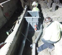 SR134 Relocating Fiber Optic, & Installing splice vault on East of Ledge st at Ventura Fwy (134)